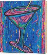 Twisted Martini Wood Print