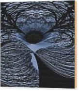 Twisted Tree Wood Print by Jean Noren