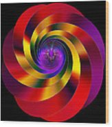 Twisting Colors Wood Print
