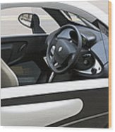 Twizy Rental Electric Car Side And Interior Milan Italy Wood Print