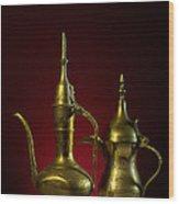 Two Arabic Coffee Pots Wood Print