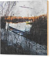 Two At The Dock Wood Print