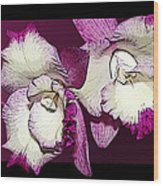 Two Baby Orchids Wood Print