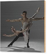 Two Ballet Dancers Performing Pas De Wood Print