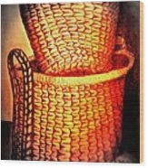 Two Baskets Wood Print