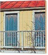Two Blue Doors Wood Print