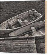 Two Boats Wood Print