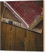 Two Books Wood Print