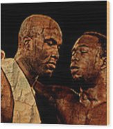 Two Boxers Wood Print by Lynda Payton