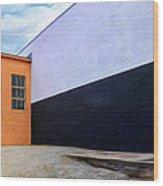 Two Buildings Wood Print