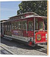 Two Cable Cars San Francisco Wood Print
