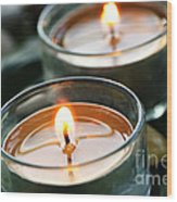 Two Candles Wood Print