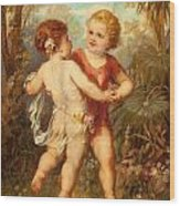 Two Cherubs Wood Print