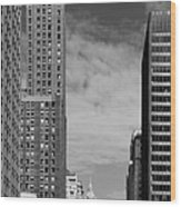 Two Chicago Classics- Carbide And Carbon And Wrigley Building Wood Print by Christine Till