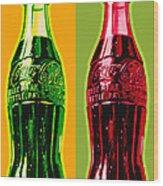 Two Coke Bottles Wood Print