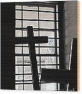 Two Crosses Wood Print