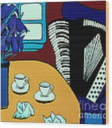 Two Cups One Accordian Wood Print