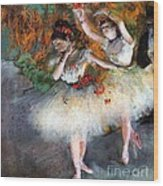 Two Dancers Entering The Scene Wood Print
