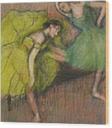 Two Dancers In The Foyer Wood Print