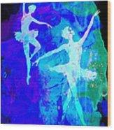 Two Dancing Ballerinas  Wood Print