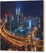 Two Direction In Klcc Wood Print