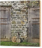 Two Doors On A Barn Wood Print