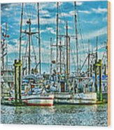 Two Fishing Boats Hdr Wood Print