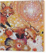 Two Foxes You Have A Friend In Me Wood Print