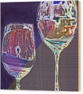 Two Glasses  Wood Print