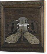 Two Handled Saw Blade Wood Print by Kurt Olson