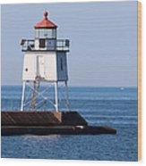 Two Harbors Breakwater Lighthouse Wood Print