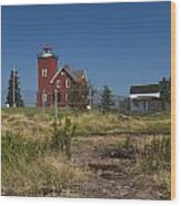 Two Harbors Mn Lighthouse 21 Wood Print