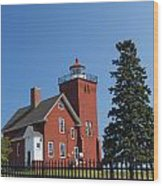Two Harbors Mn Lighthouse 24 Wood Print