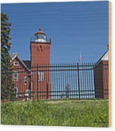 Two Harbors Mn Lighthouse 25 Wood Print
