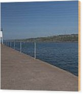 Two Harbors Mn Pier Light 12 Wood Print