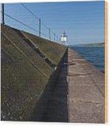 Two Harbors Mn Pier Light 15 Wood Print