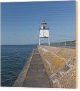 Two Harbors Mn Pier Light 8 Wood Print