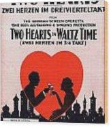 Two Hearts Wood Print