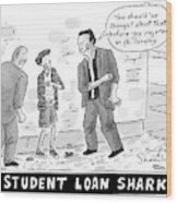 Two Henchman -- Student Loan Sharks -- Approach Wood Print