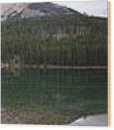 Two Jack Lake Sunset - Banff Nat. Park, Alberta Wood Print