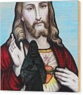Two Jesuses Wood Print