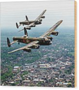 Two Lancasters Over High Wycombe Wood Print