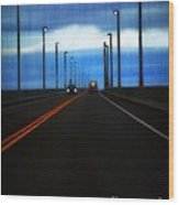 Two-lane Blacktop Wood Print