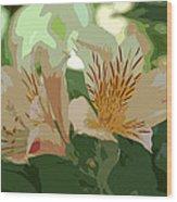 Two Lilies Cutout Wood Print