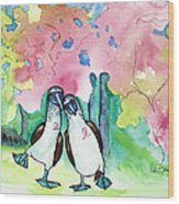 Two Little Boobies Support Breast Cancer Awareness Week Wood Print