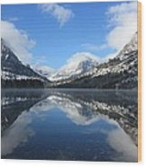 Two Medicine Lake After A Snowstorm Wood Print
