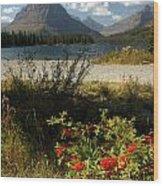 Two Medicine Lake In Glacier Wood Print