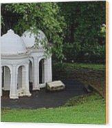 Two Meditating Cupolas In Fort Canning Park Singapore Wood Print