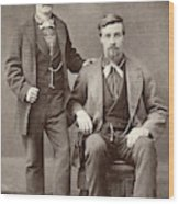 Two Men, 19th Century Wood Print