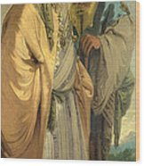Two Men In Oriental Costume Wood Print